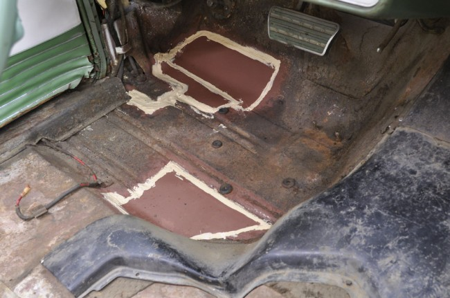 Drivers Side Floor Repaired