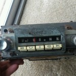 1960 Buick Sonomatic radio with intact buttons