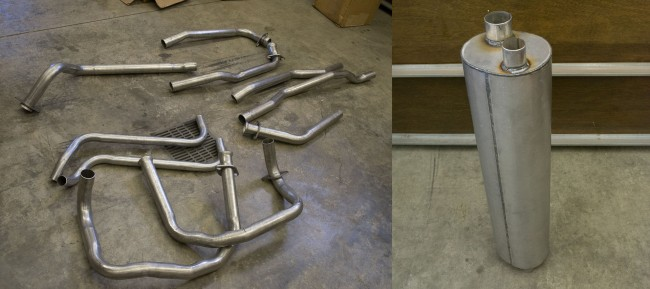 New Exhaust System from an eBay Seller.