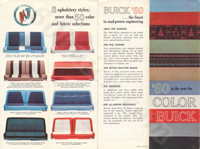 60 Is The Year For Color In Buick Brochure 60buick Com Restoration Of A 1960 Buick